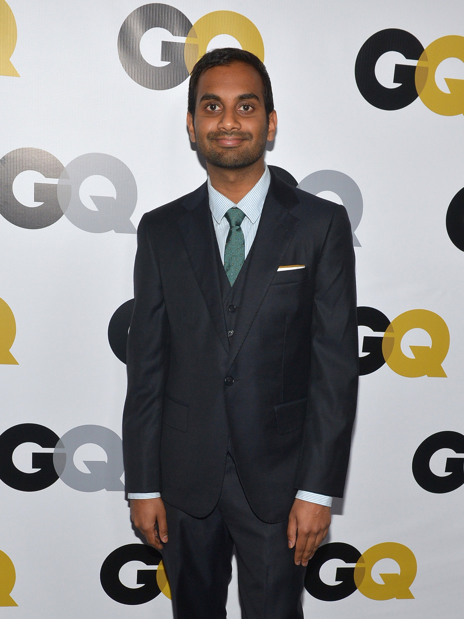 Aziz Ansari attended the GQ Men of the Year party.