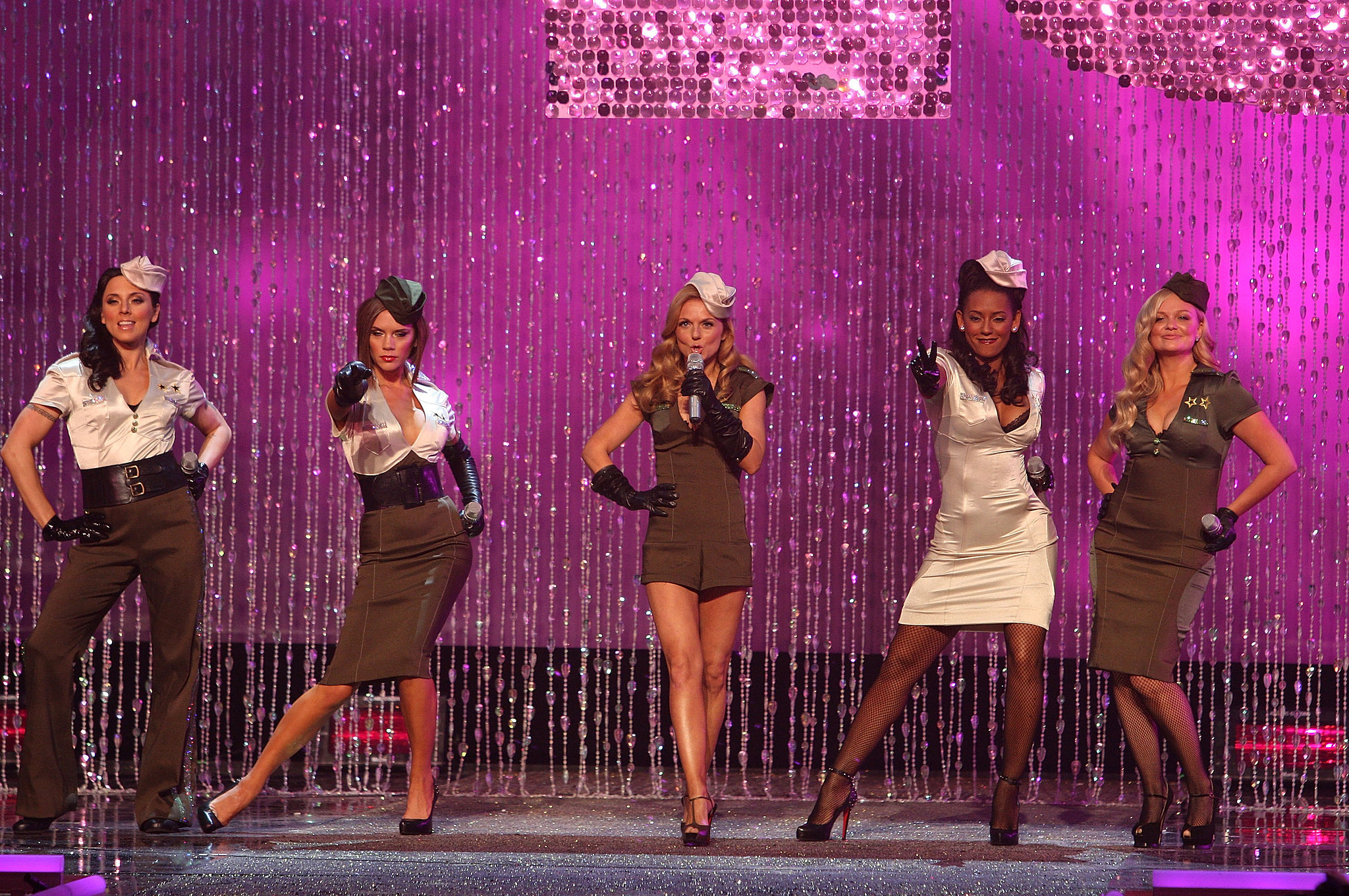 The Spice Girls made a pit stop during their reunion tour to perform on the runway in 2007.