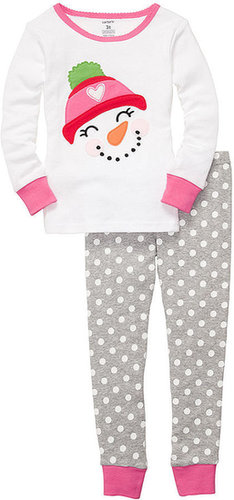 Carter's Kids Pajamas, Toddler Girls 2 Piece Snowman Fitted PJs