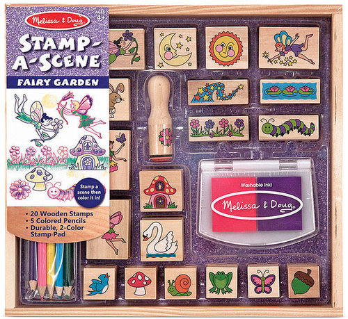 Melissa and Doug Kids Toy, Stamp-a-Scene Fairy Garden Set