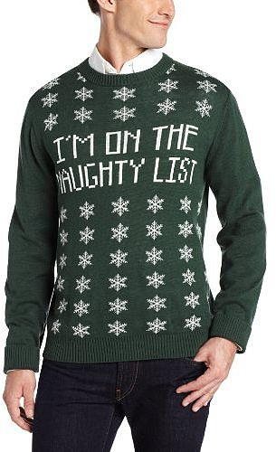 Alex Stevens Men's Naughty List Ugly Christmas Sweater