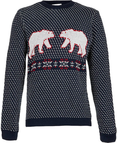 Navy Polar Bear Sweater