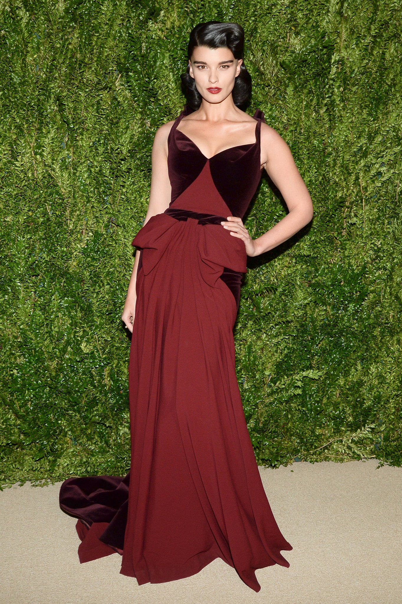 Crystal Renn at the CFDA/Vogue Fashion Fund Awards.