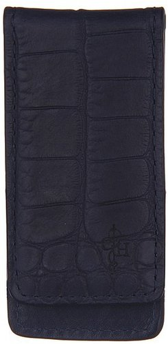 Cole Haan - Vesey Money Clip (Blazer Blue/Croc Print) - Bags and Luggage