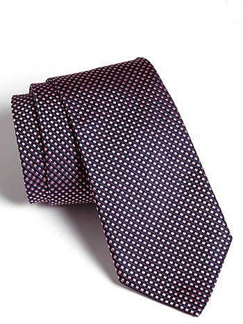 Thomas Pink Woven Silk Tie