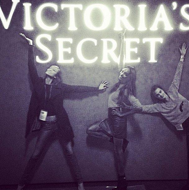 Karlie Kloss, Jourdan Dunn, and Cara Delevingne, at your service! Source: Instagram user caradelevingne