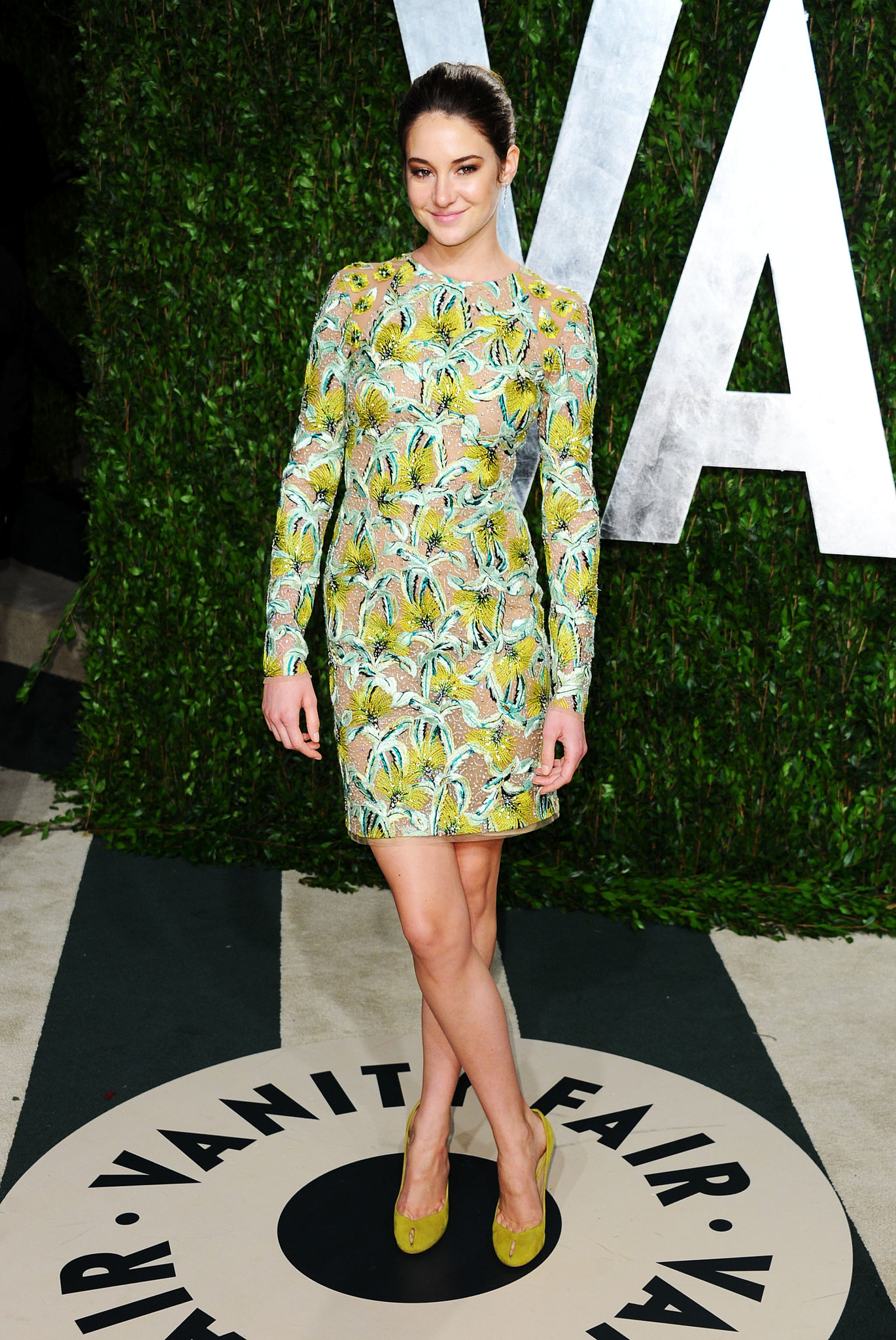 Shailene Woodley in Proenza Schouler at the 2012 Vanity Fair Oscars Party