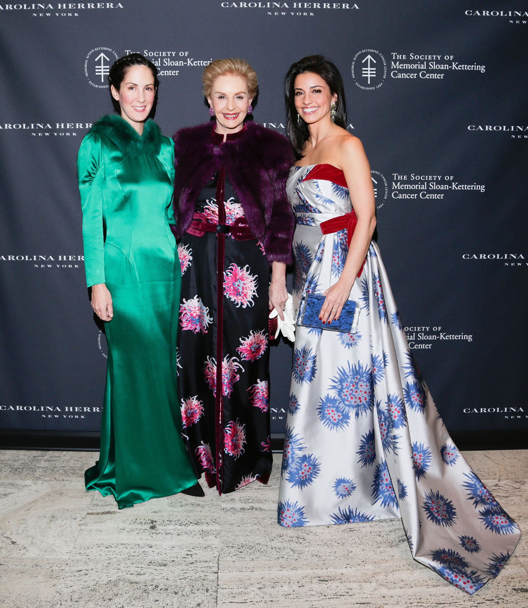 Patricia Lansing, Carolina Herrera, and Shoshanna Gruss in Carolina Herrera at The Society of Memorial Sloan-Kettering Cancer Center's Fall Party.