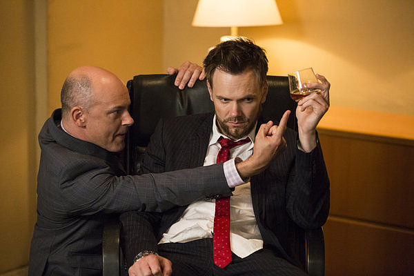 Rob Corddry guest-stars as Alan Connor alongside Joel McHale as Jeff.