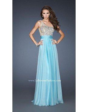 La Femme Prom Dresses 18646 Aqua