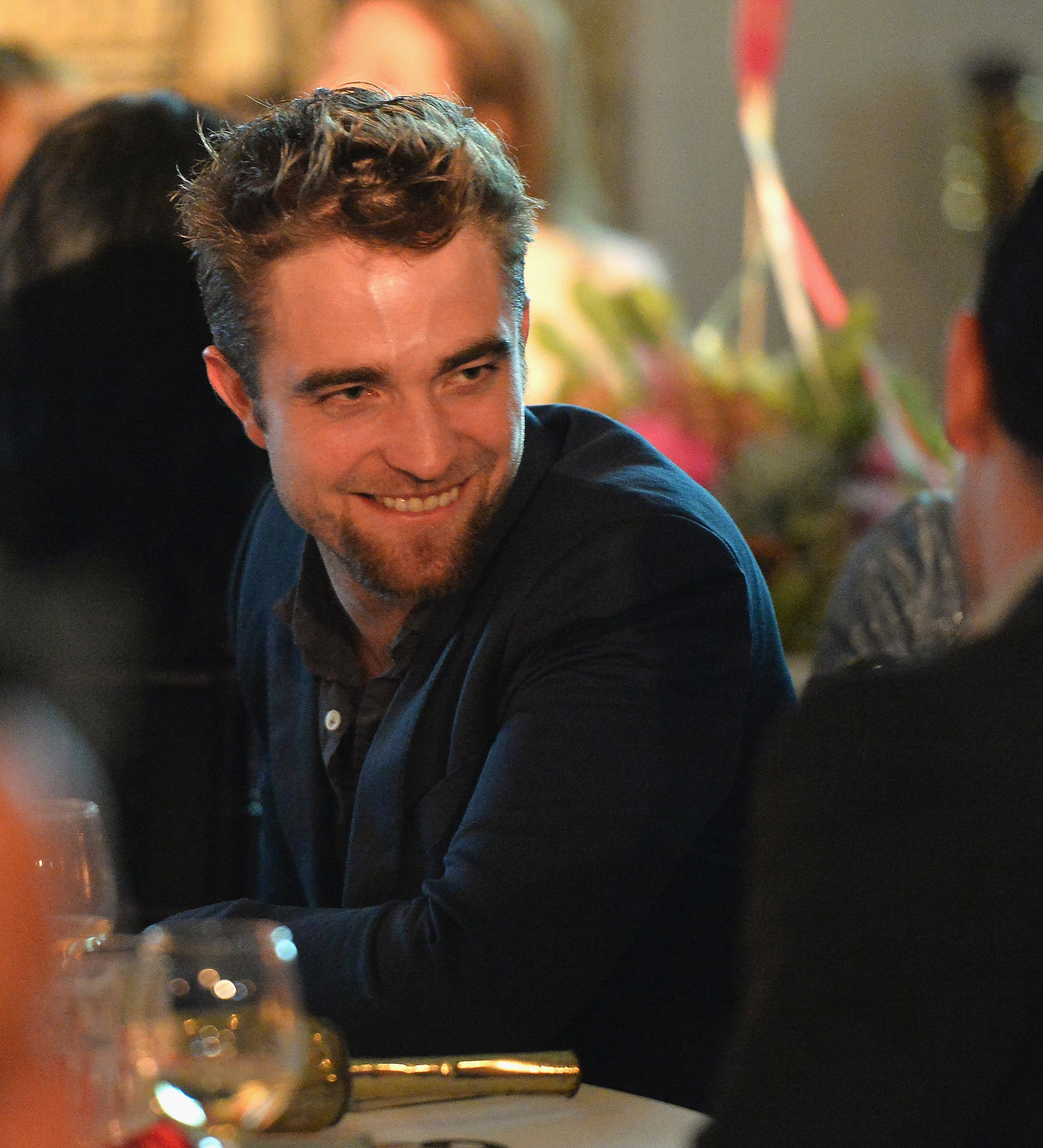 Robert Pattinson debuted his new goatee when he attended the sixth annual Go Go Gala at the Bel Air Bay Club in LA on Thursday.