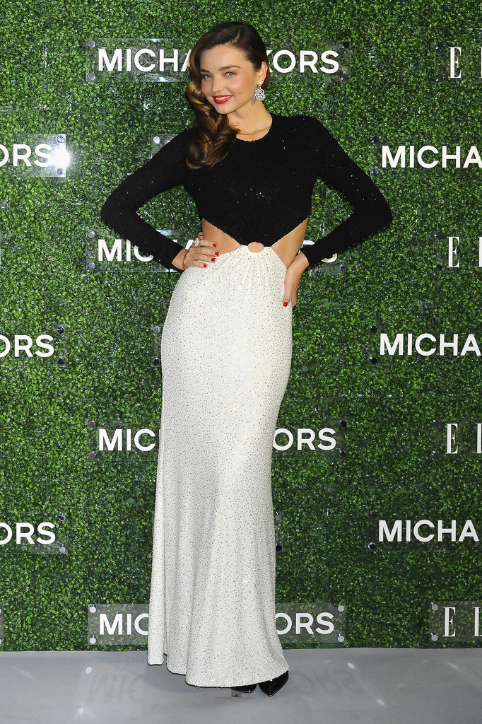 Miranda Kerr joined Michael Kors in Tokyo in the most dramatic of gowns. Skin? Check. Crystals? Check. Best of the week? Check.