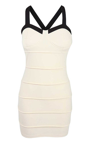 Nude Bandage Bodycon Dress