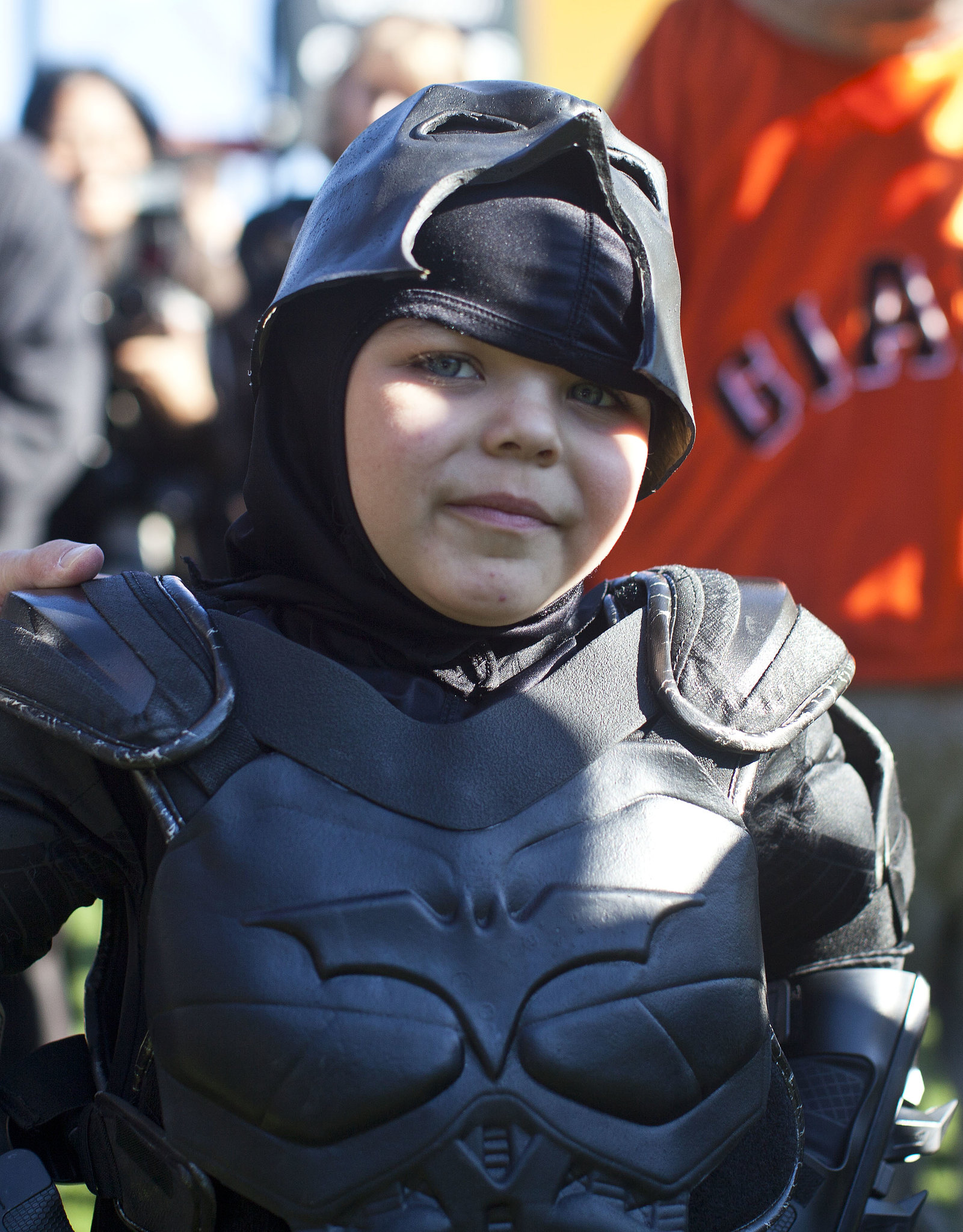 Batkid was all smiles at AT&T Park.
