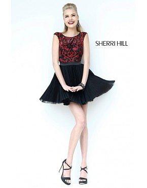 Sherri Hill 21167 Homecoming Dresses Black