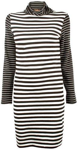 Thomas Sires Striped Turtleneck Dress