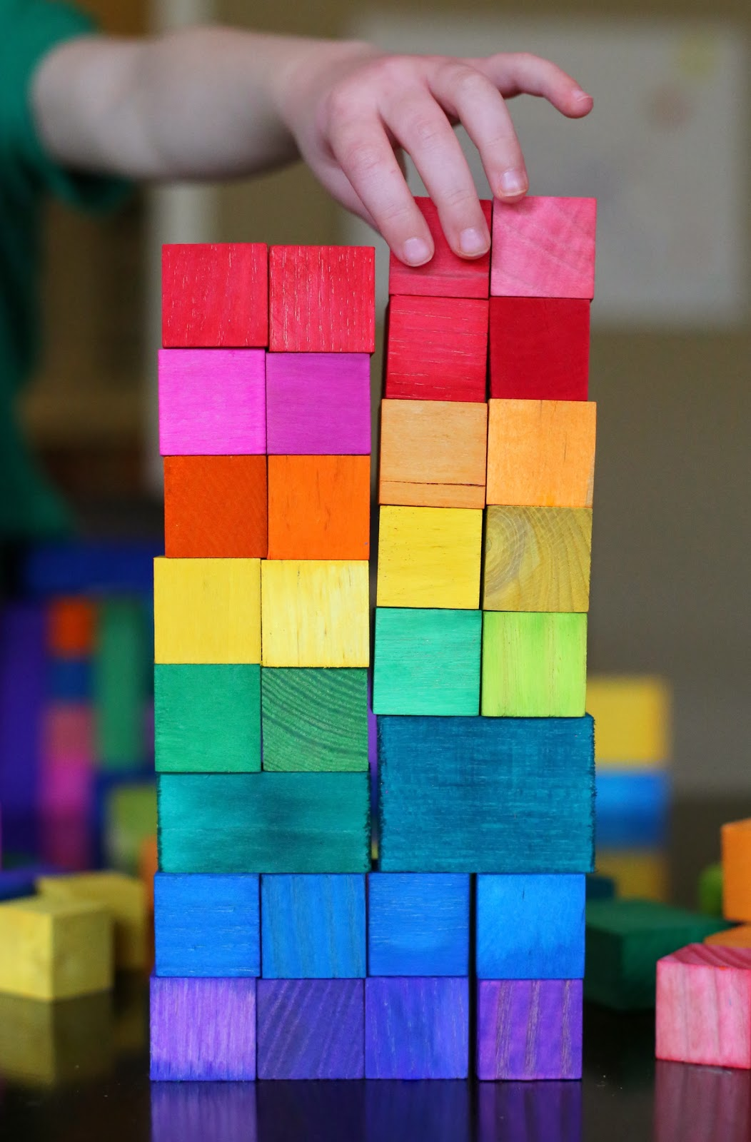 Dyed Wooden Blocks