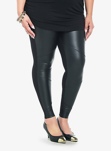 Torrid Faux Leather Panel Leggings
