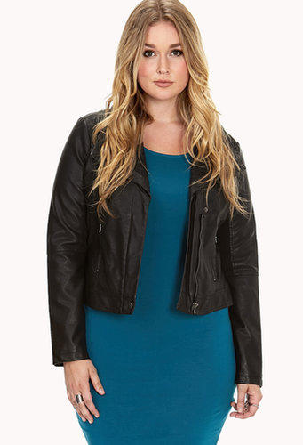 FOREVER 21+ City-Chic Faux Leather Jacket