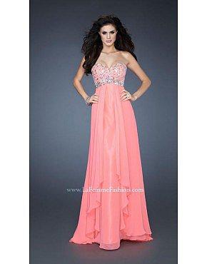 La Femme Gigi Prom Dresses 18803 Electric Pink