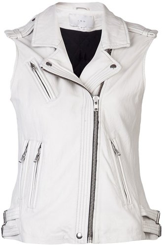 Iro leather moto vest