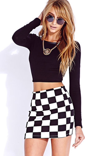 FOREVER 21 Edgy Faux Leather Crop Top