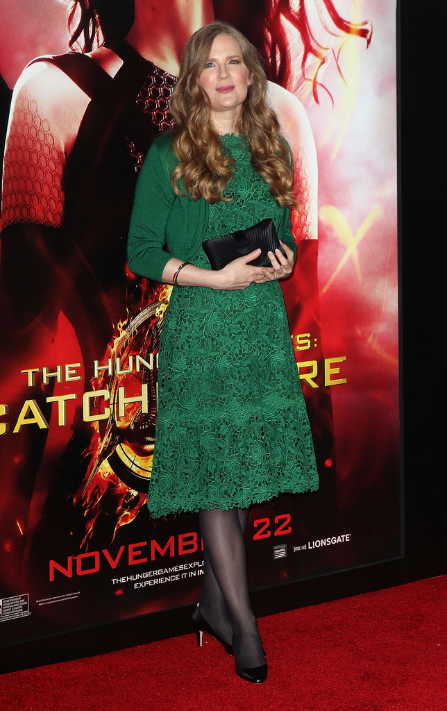 Author Suzanne Collins showed up to support her story.