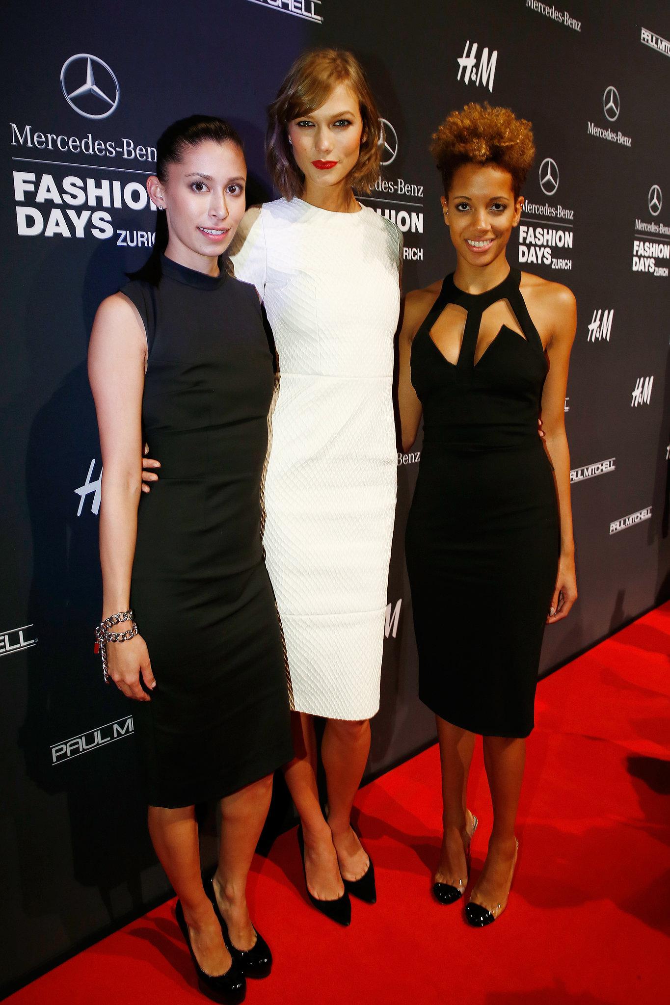 Carly Cushnie, Karlie Kloss, and Michelle Ochs at the Zurich Mercedes-Benz Fashion Days.