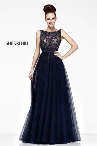 2013 Sherri Hill 11022 Navy Homecoming Dresses