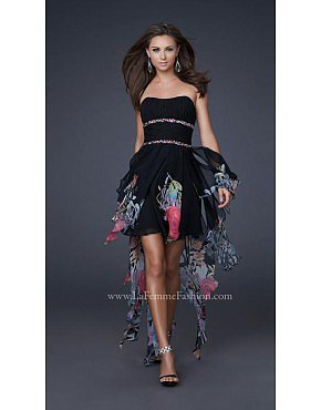 La Femme 16289 Black Dresses for Homecoming
