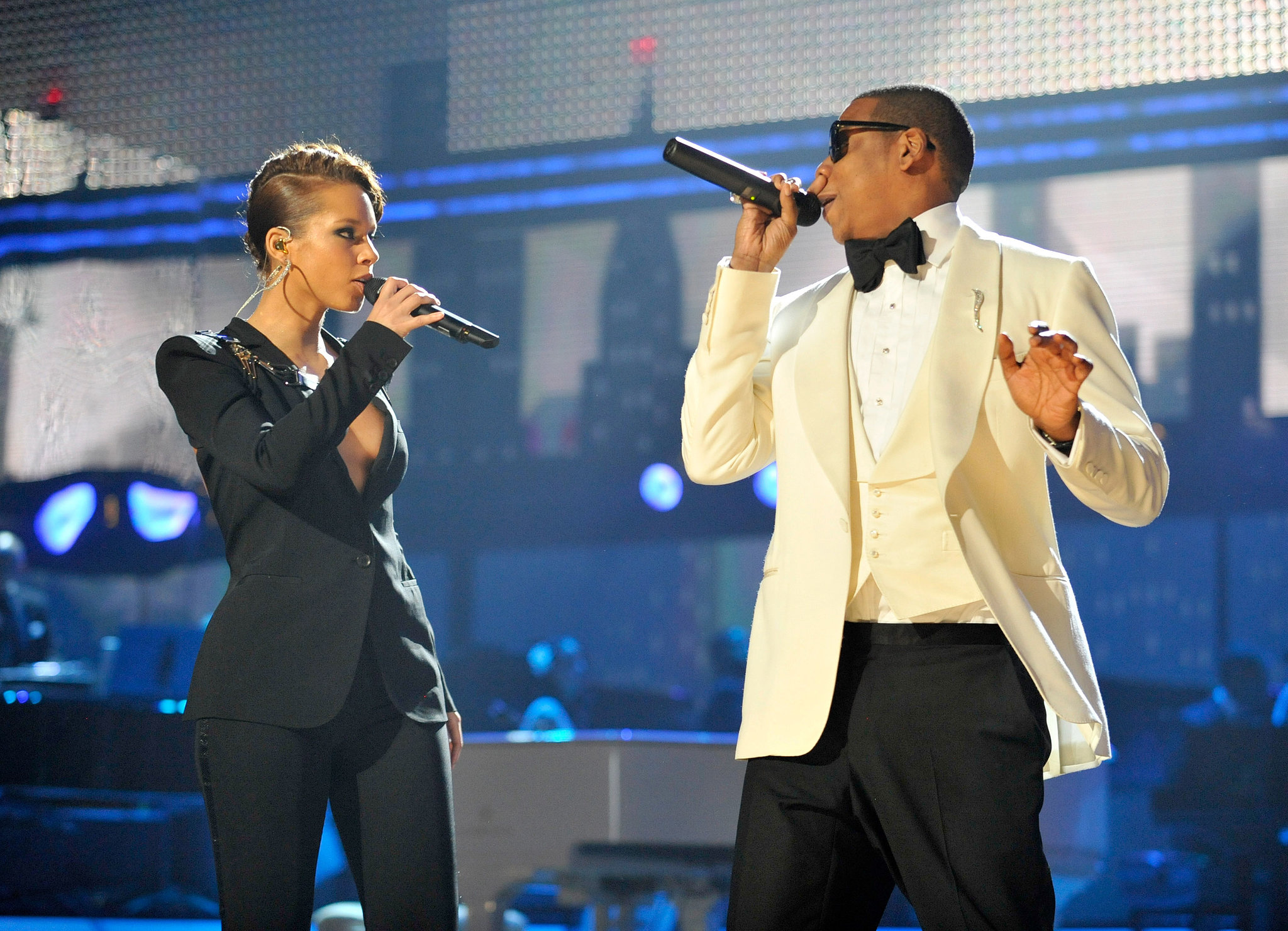 "Jay Z and Alicia Keys performed their hit ""Empire State o"
