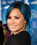 Demi Lovato With Blue Hair at Frozen Premiere