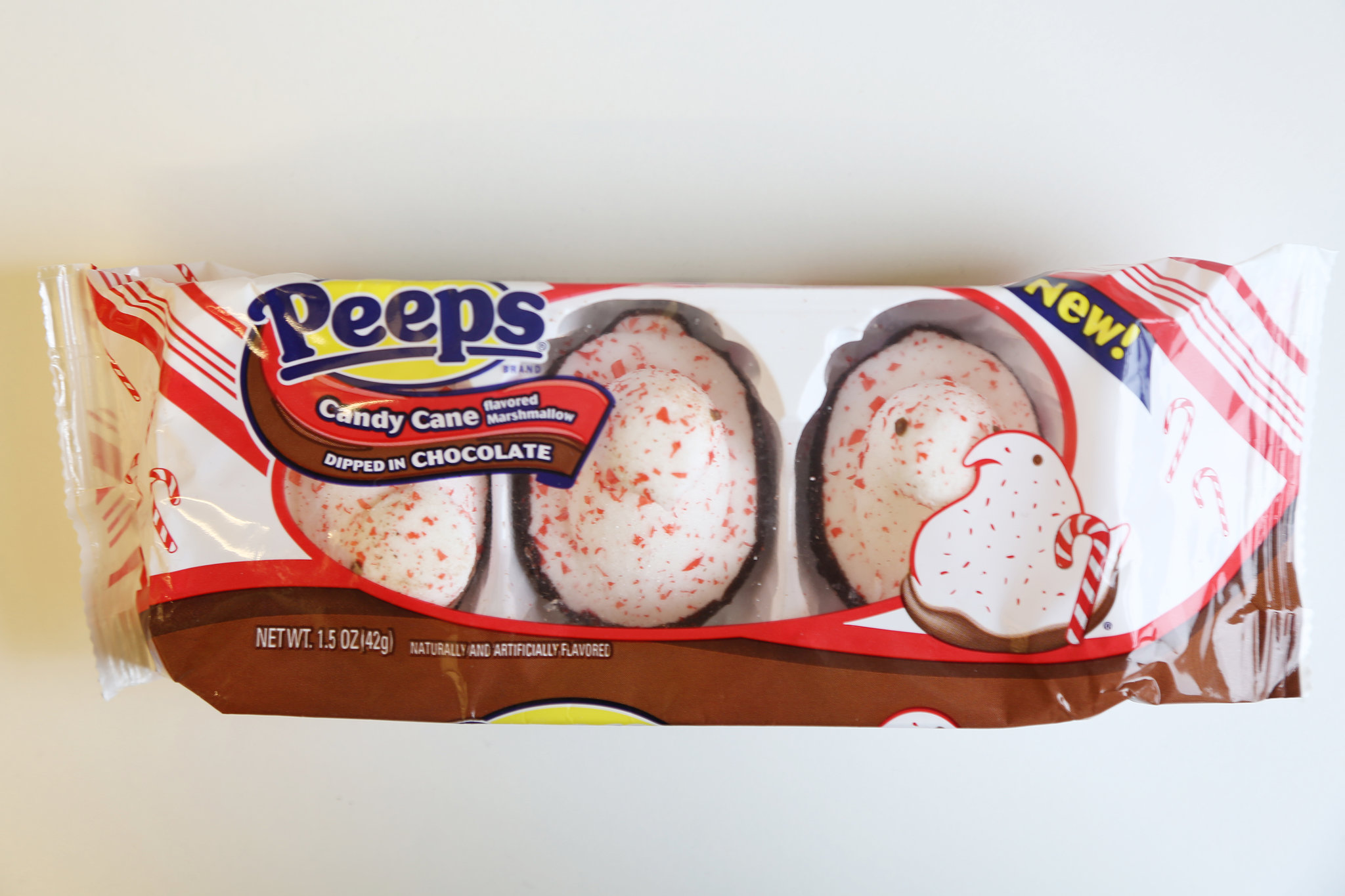 Peeps Candy Cane Flavored Marshmallows Dipped in Chocolate | 60 ...