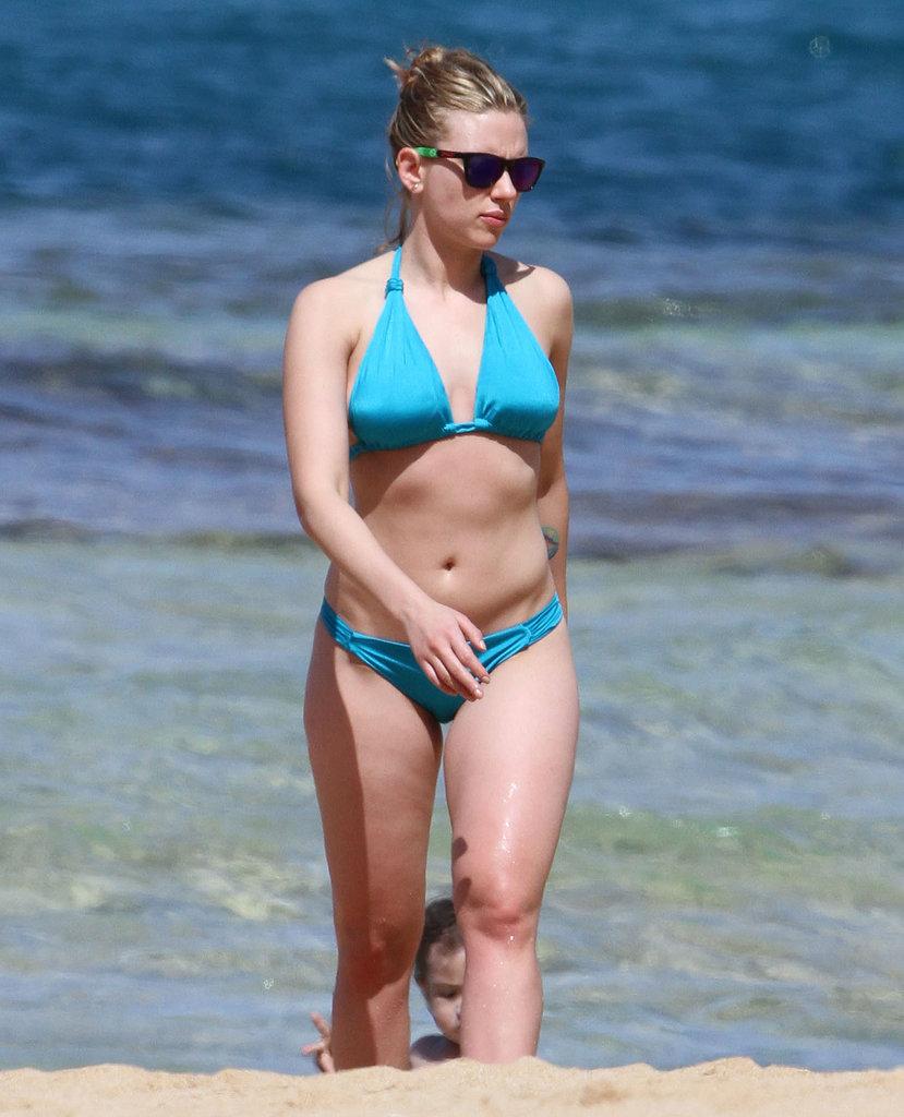 Scarlett broke out her bikini and hit the beach in Hawaii in February 2012.
