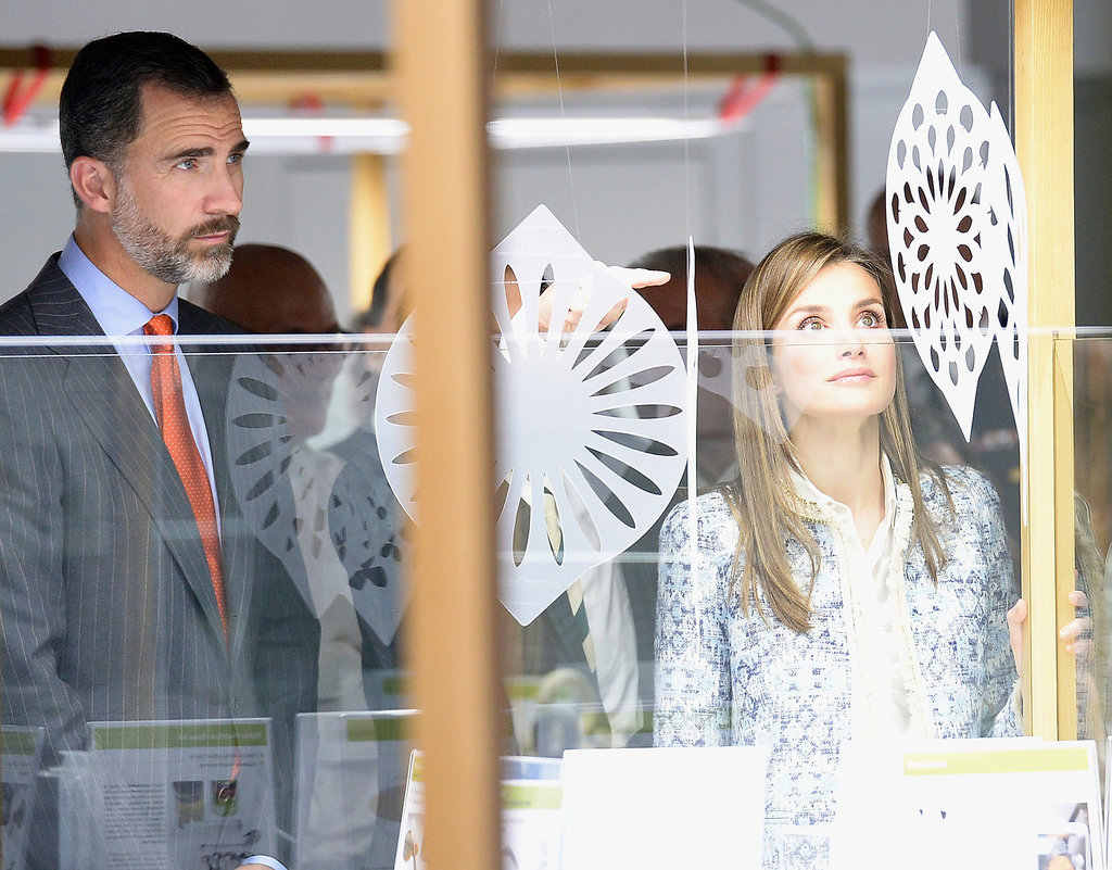 "Prince Felipe and Princess Letizia also checked out an exhibition called ""Tapas. Spanish Design for Food"" on Tuesday in Miami as part of their US tour."