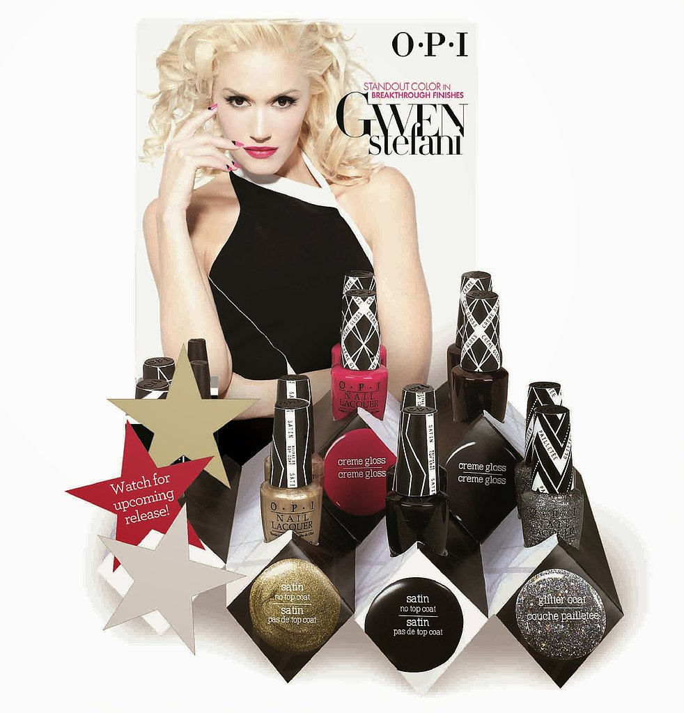 "Gwen Stefani has once again nailed it with her upcoming collection for OPI, which features a range of shades — including her signature red. The collection's rock starlet minipack ($15) features four of the collection's colors, like the electric pink ""Hey Baby"" and metallic gold ""Love.Angel.Music.Baby."" The polishes won't ship until January — but they're bound to sell out — so I'd pop this picture inside a holiday card for a friend or co-worker as a promise of what's coming their way! — Lindsay Miller, entertainment editor"
