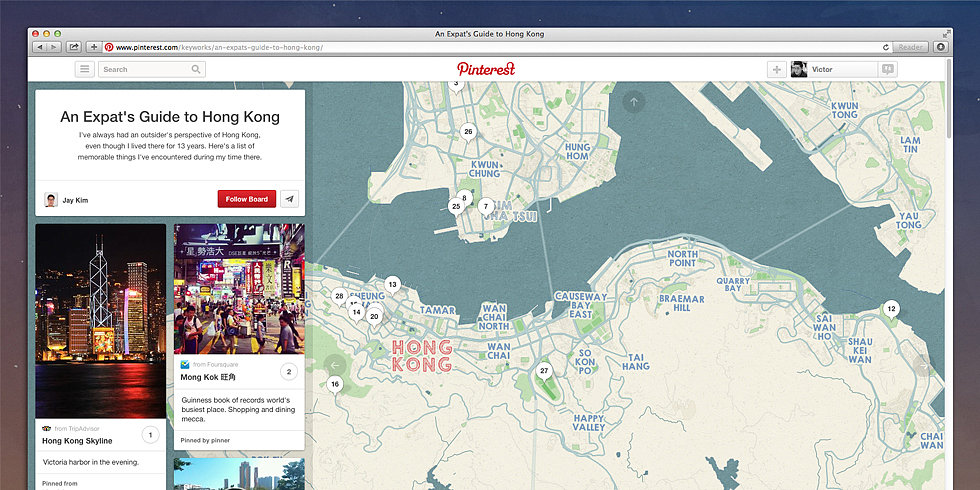 "Need Trip-spiration? Follow Pinterest's New ""Place Pins"""