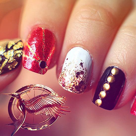 Catching Fire Nail Art Tutorial 2013 | Video