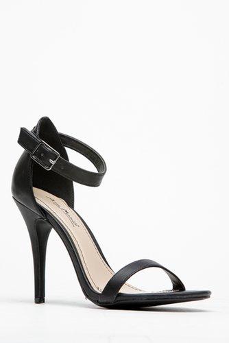 Black Ankle Strap Sandal Heels @ Cicihot Heel Shoes online store sales:Stiletto Heel Shoes,High Heel Pumps,Womens High Heel Shoe