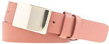 Leather plaque belt