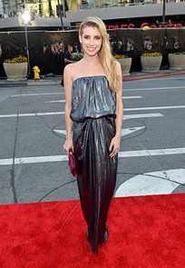 Emma-Roberts-let-her-shimmering-silver-Lanvin-gown-do-all