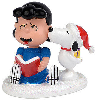 Department 56 Collectible Figurine, Peanuts Village Snoopy's Christmas Kiss - Retired 2013