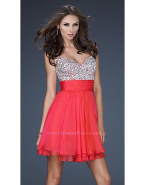 La Femme 16813 Watermelon Dresses for Homecoming