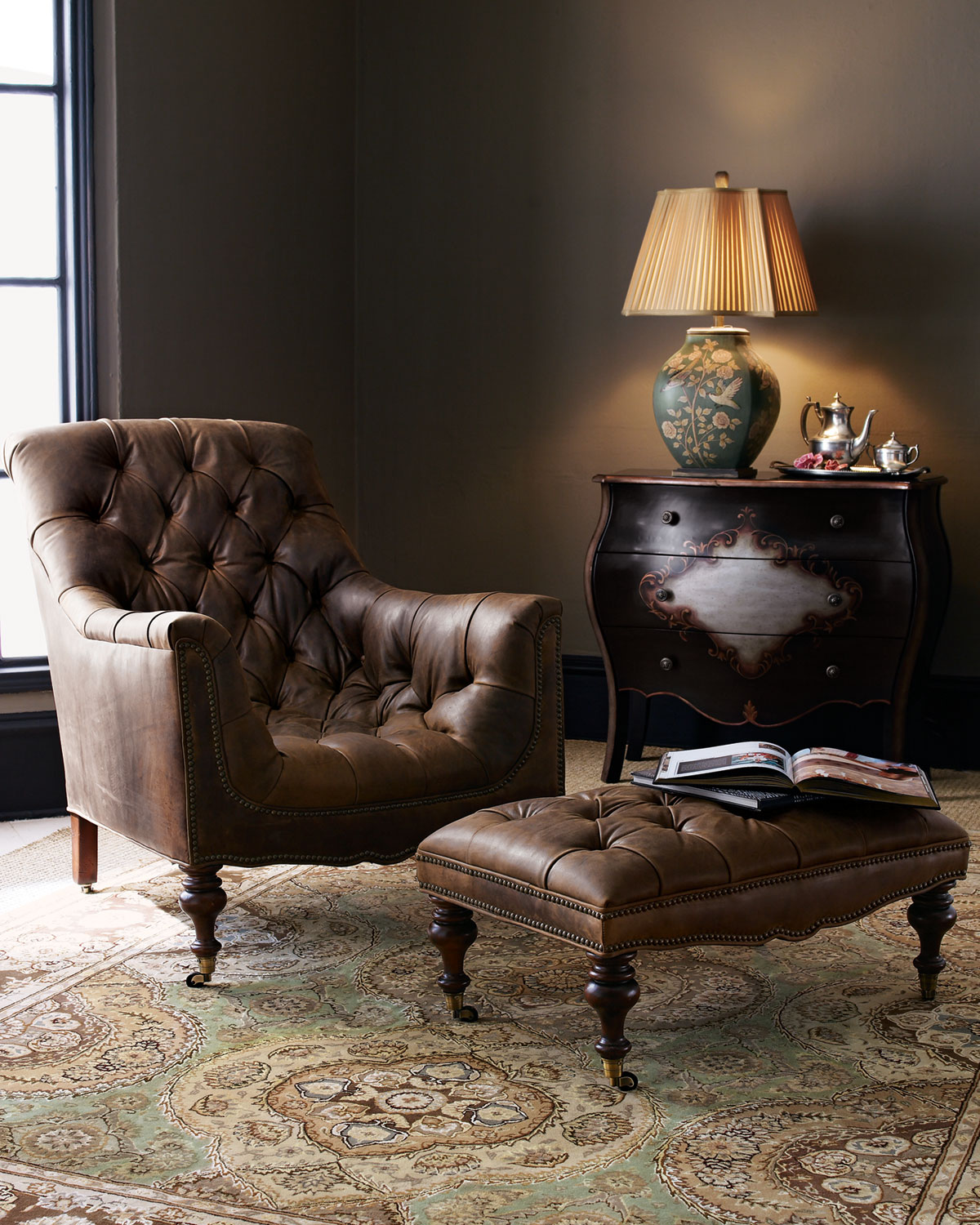I like to think of myself as a modern-day Sherlock Holmes who happens to solve no mysteries and doesn't actually smoke a pipe. The Horchow Tufted Leather Chair & Ottoman ($1,079) is pretty much everything I'm looking for in a chair. Its bucket-like seat looks insanely comfortable, and the fact that an ottoman comes with it is just an added bonus. — Maggie Pehanick, assistant editor