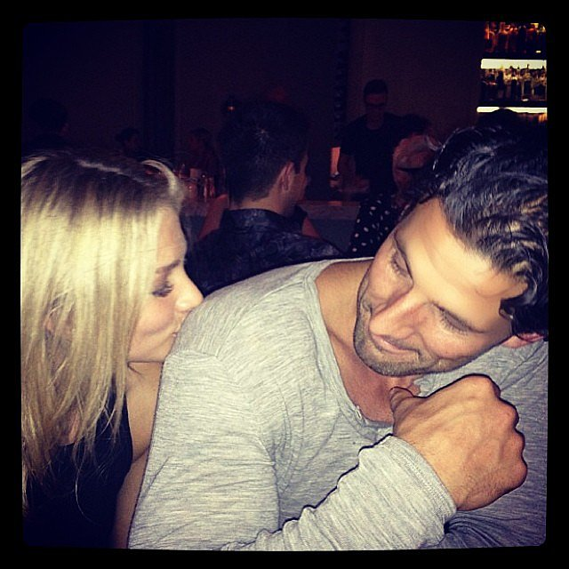 Anna is a fan of Tim's muscles. Source: Instagram user annaheinrich1