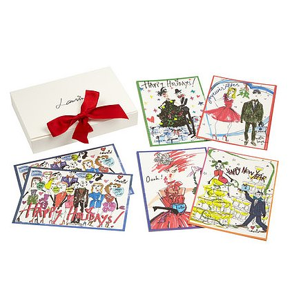 Spread holiday cheer by wrapping up Lanvin's Happy Holidays set of 10 notecards ($90).  — Kim Timlick, director of POPSUGAR international