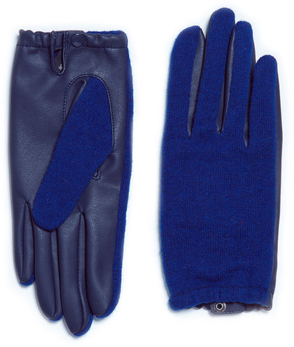 Short Faux Leather Glove