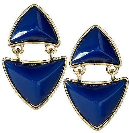 Pim + Larkin Raised Triangle Link Earring