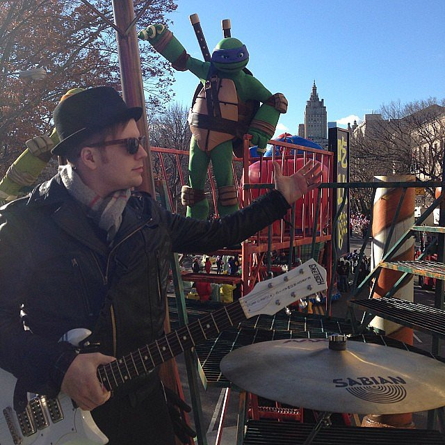 Pete Wentz had a good view of NYC from his float during the Thanksgiving Day Parade. Source: Instagram user petewentz