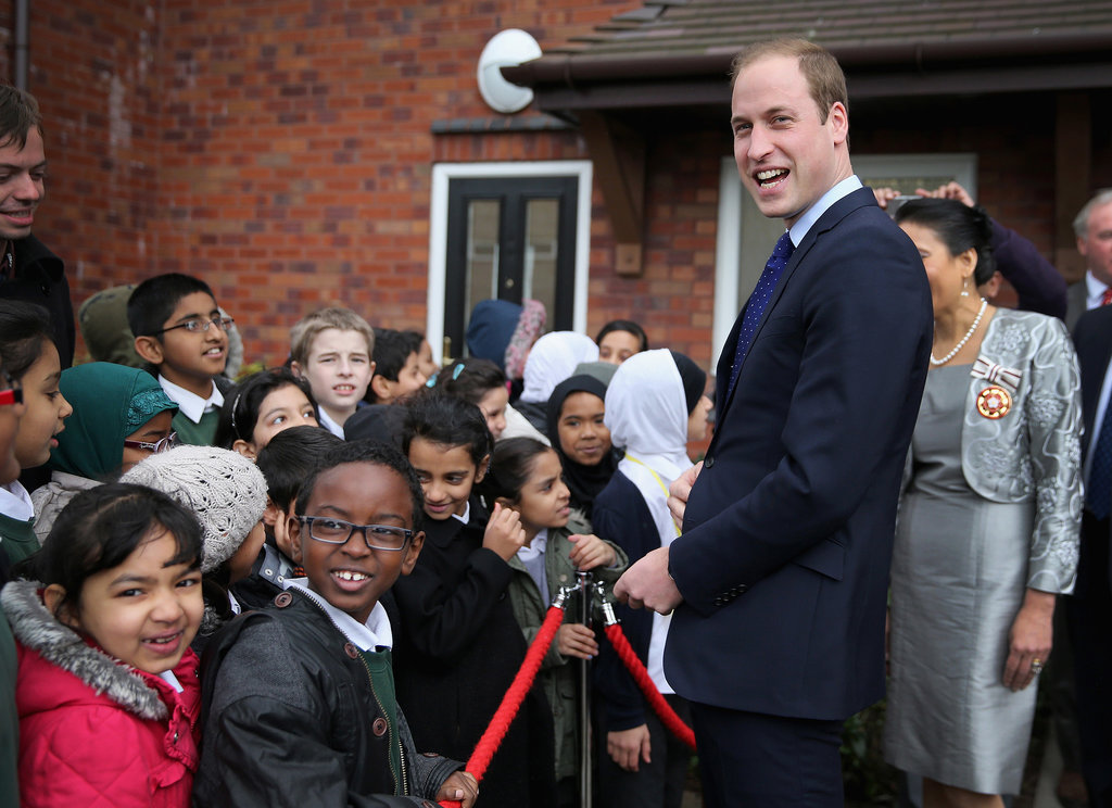 Prince William was the guest of honor during a visit to the Birmingham Library.